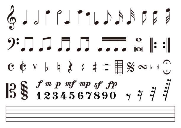 nuty wynik notacja muzyczna, ilustracja wektorowa - muzyka stock illustrations
