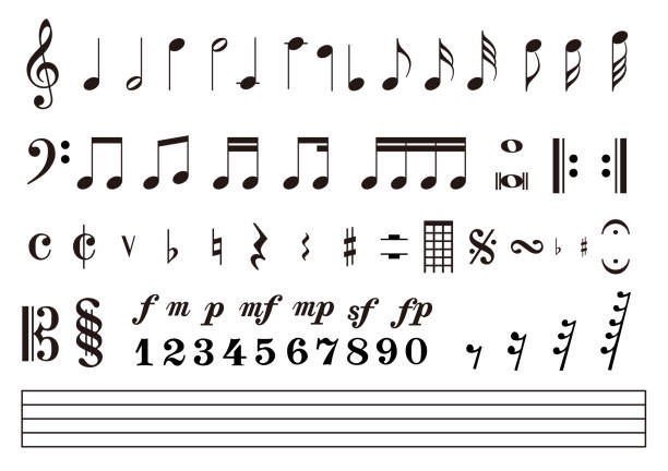 Best Quarter Note Illustrations, Royalty-Free Vector