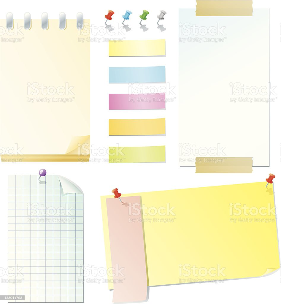 Notes & Stickies royalty-free stock vector art