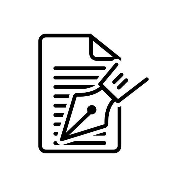 noten-schriftsteller - editorial stock-grafiken, -clipart, -cartoons und -symbole
