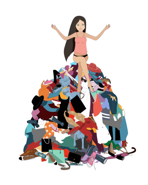 Best Pile Of Clothes Illustrations, Royalty-Free Vector ...