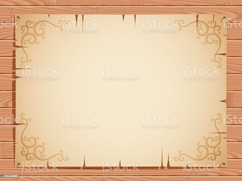 notice board (vector) royalty-free stock vector art