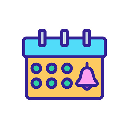 Notice event icon vector. Isolated contour symbol illustration