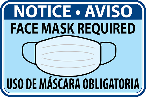 Notice Face Mask Required - Notice Use Of Mandatory Mask sign