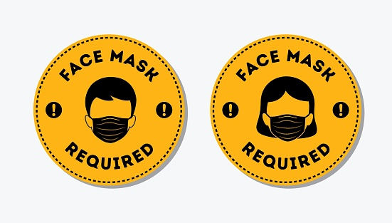 Notice Face Masks Required Sign, protective measures, Facemask Required Premises Sign, For Your Safety, Safety First Face Covering, Do Not Enter Without Face Covering Sign, Coronavirus Protection sign