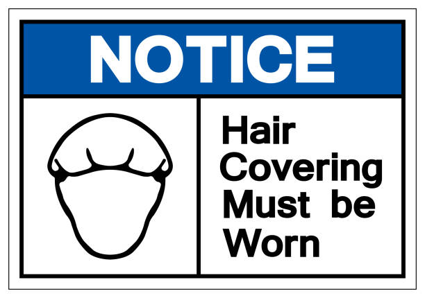 Notice Hair Covering Must Be Worn Symbol Sign, Vector Illustration, Isolated On White Background Label .EPS10 Notice Hair Covering Must Be Worn Symbol Sign, Vector Illustration, Isolated On White Background Label .EPS10 hair net stock illustrations