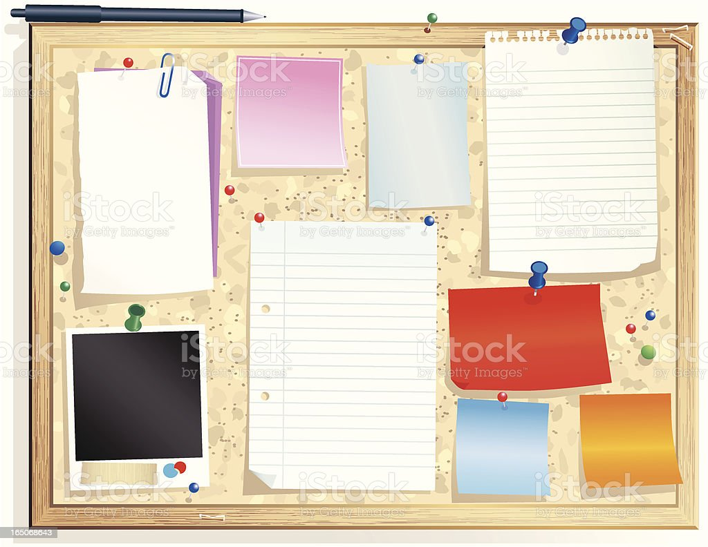 Notice message board royalty-free notice message board stock vector art & more images of adhesive note