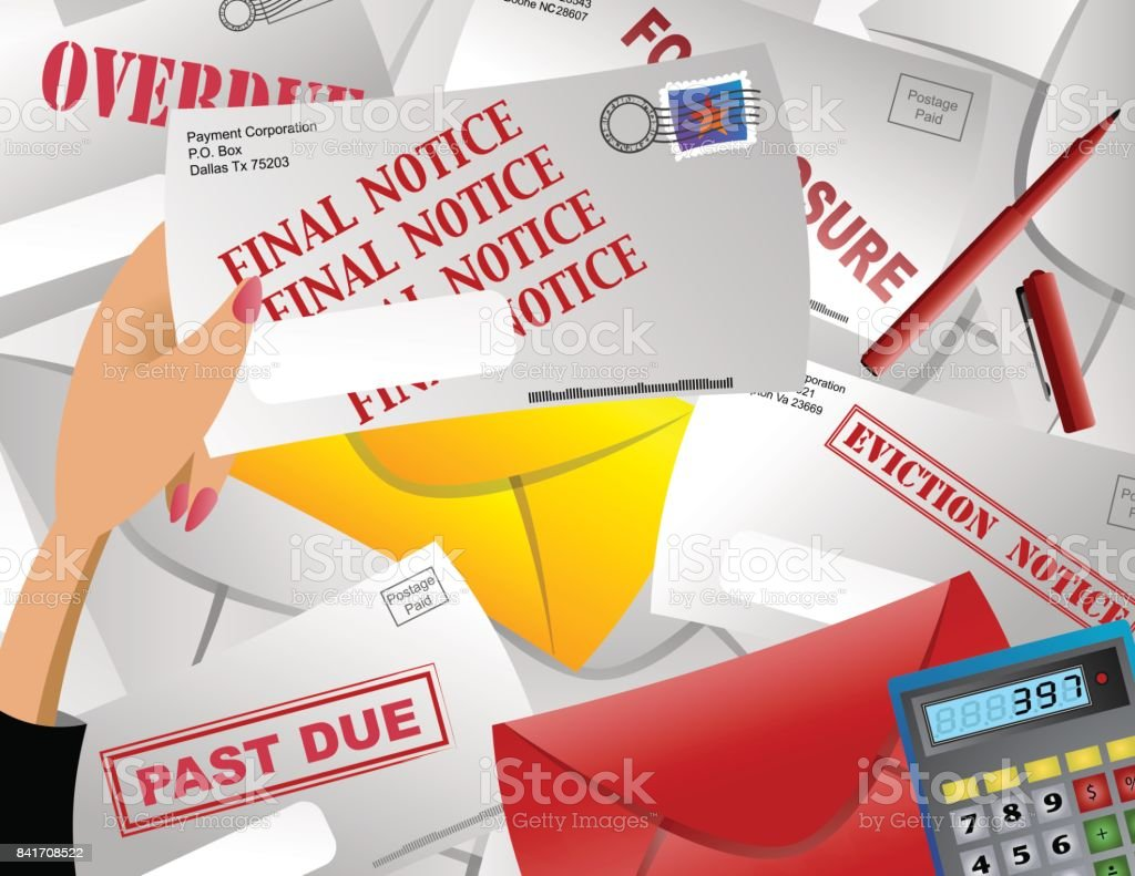 Notice royalty-free notice stock vector art & more images of bankruptcy
