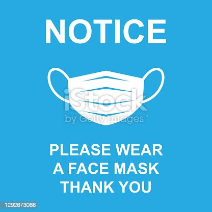 istock notice wear a face mask sign 1292673086