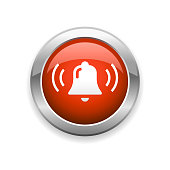 An illustration of notification bell glossy icon for your web page, presentation, apps and design products. Vector format can be fully scalable & editable.