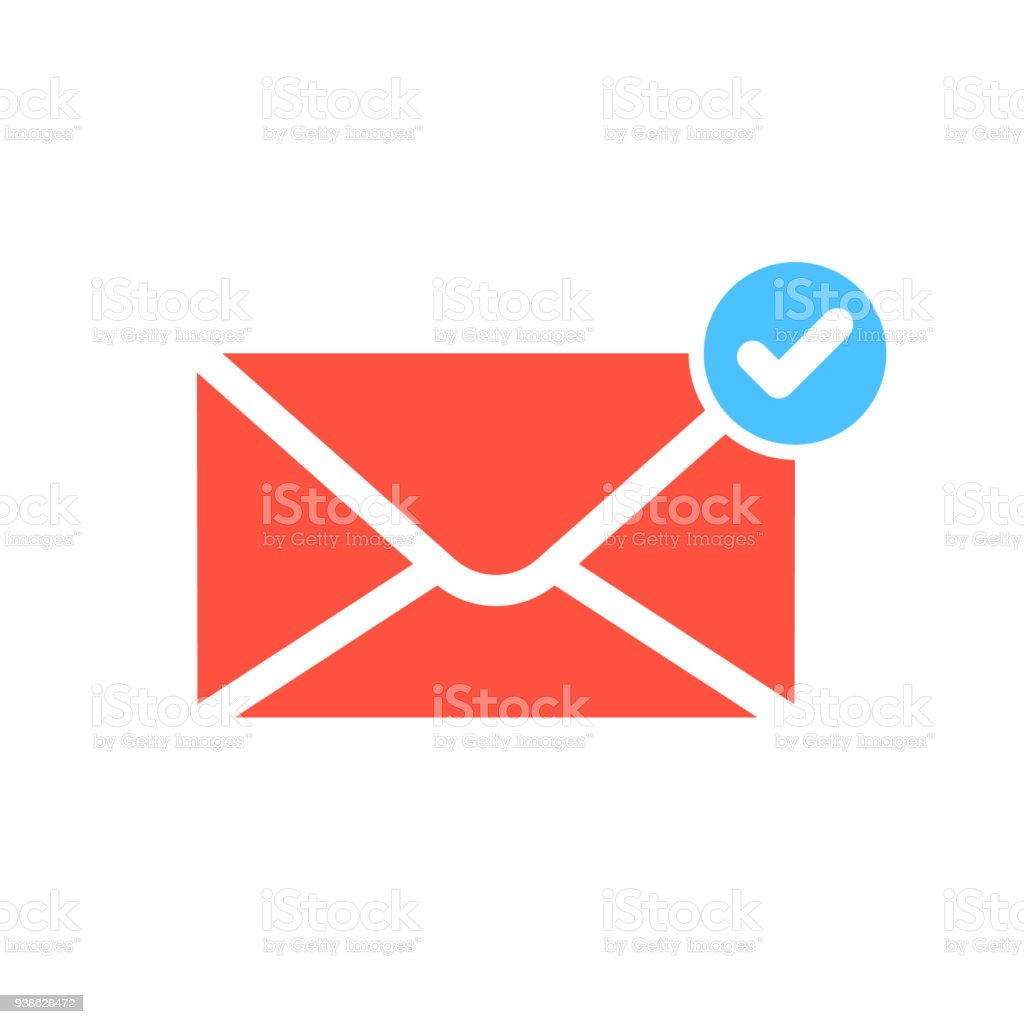 Notification icon with check sign. Notification icon and approved, confirm, done, tick, completed symbol vector art illustration
