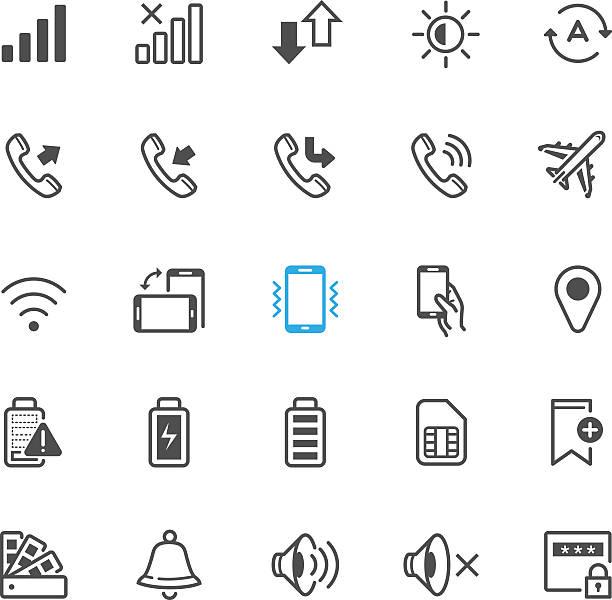 benachrichtigung symbole für mobiltelefon und anwendung - schütteln stock-grafiken, -clipart, -cartoons und -symbole