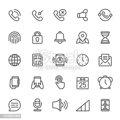 Smart phone, notification, icon, icon set, handset, telephone, mobile phone, contact us, application software
