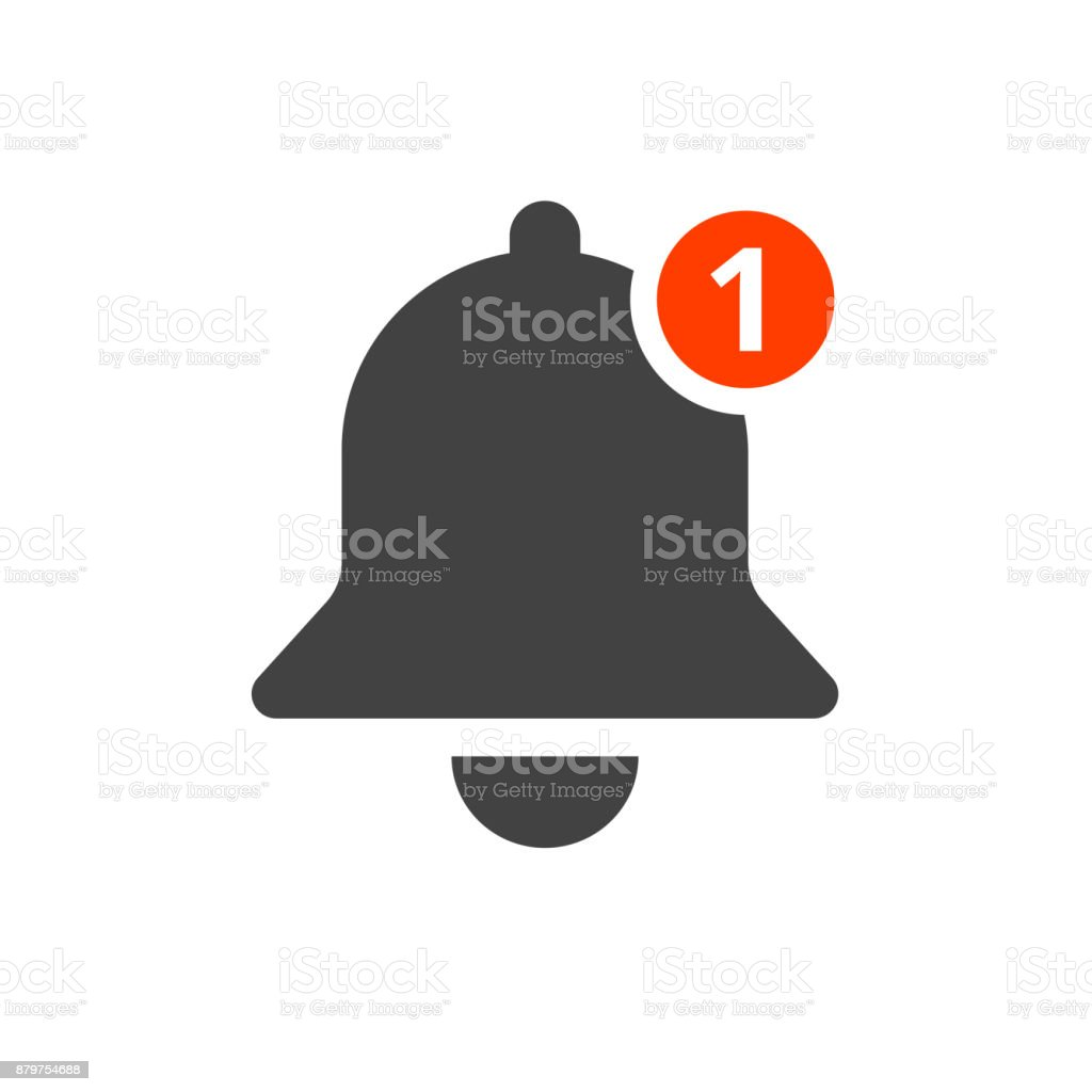 notification-bell-icon vector art illustration