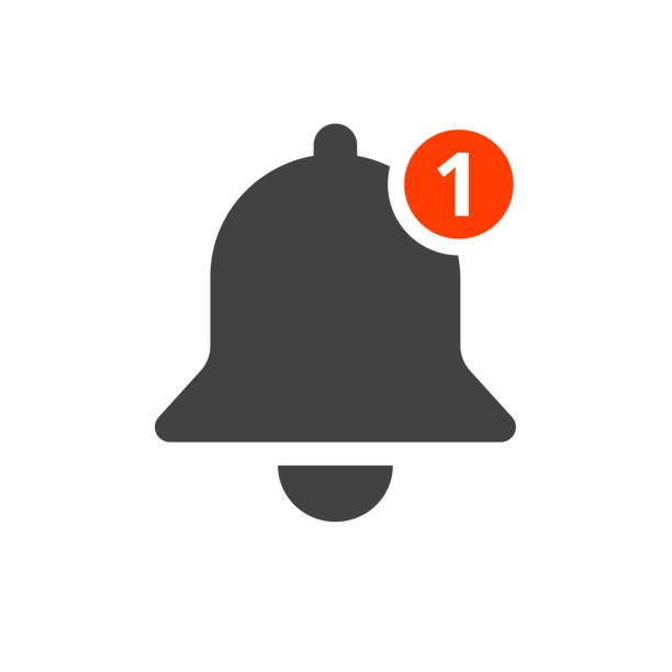 notification-bell-icon - reminder stock illustrations