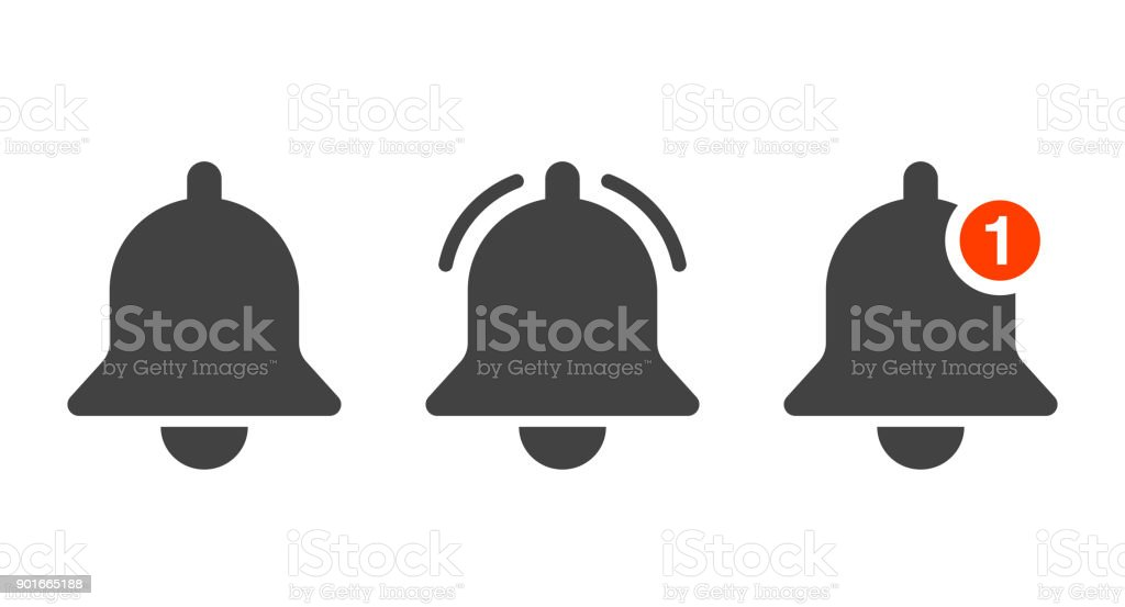 notification-bell-icons vector art illustration