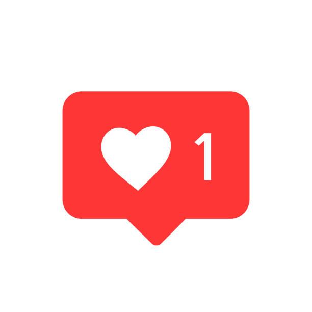 значок уведомлений. как вектор значков. социальные медиа как вектор значок. instagram, как уведомление - instagram stock illustrations