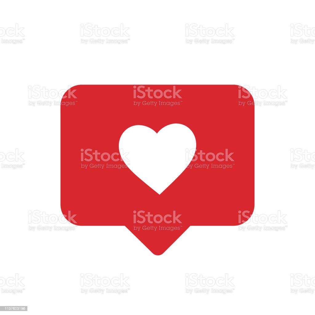Notifications icon. Like icon vector. social media Like vector icon