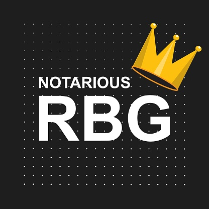 Notorious Rbg Background Banner Poster Sticker Tshirt Design Stock Illustration - Download Image Now