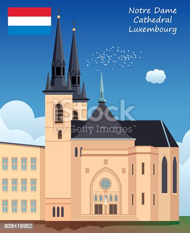 istock Notre Dame Cathedral - Luxembourg 838416952
