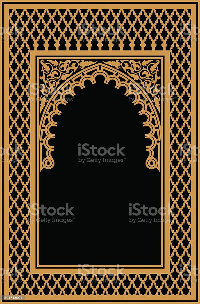 Nouaceur Morocco Arch vector art illustration