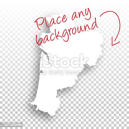 istock Nouvelle-Aquitaine Map for design - Blank Background 1307250494
