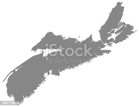 vector illustration of Nova Scotia map