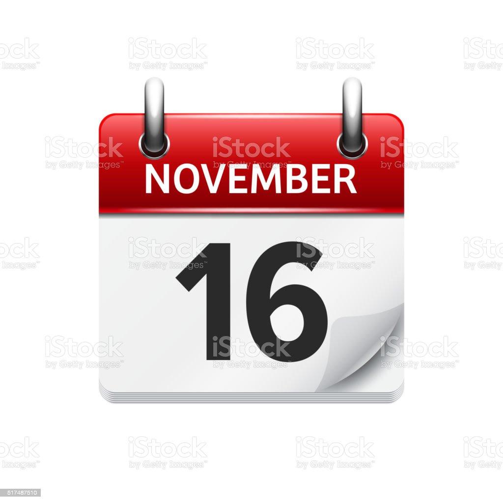 11 月 16 日ですベクトルフラッ...