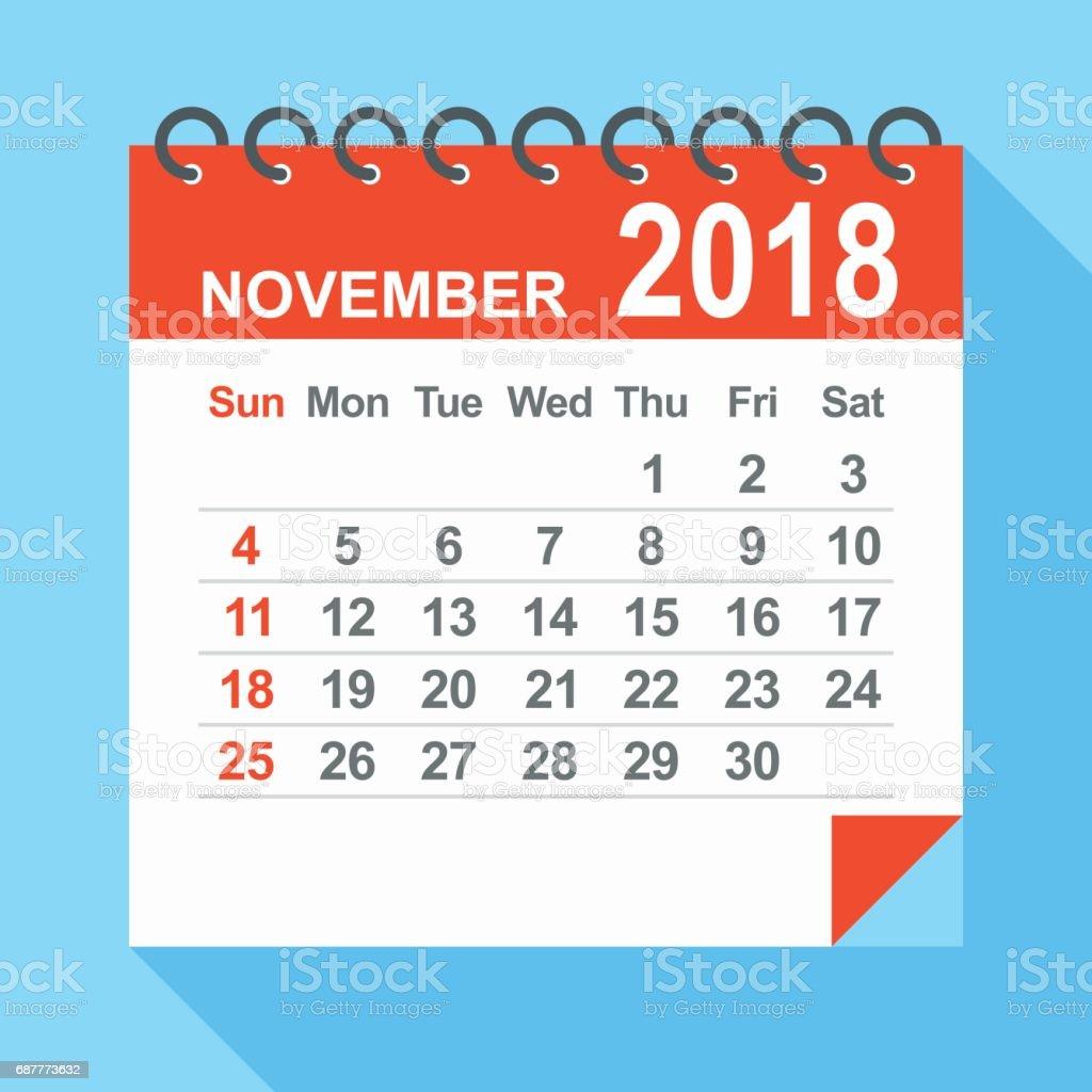2018 年 11 月 カレンダー 2018年のベクターアート素材や画像を多数ご