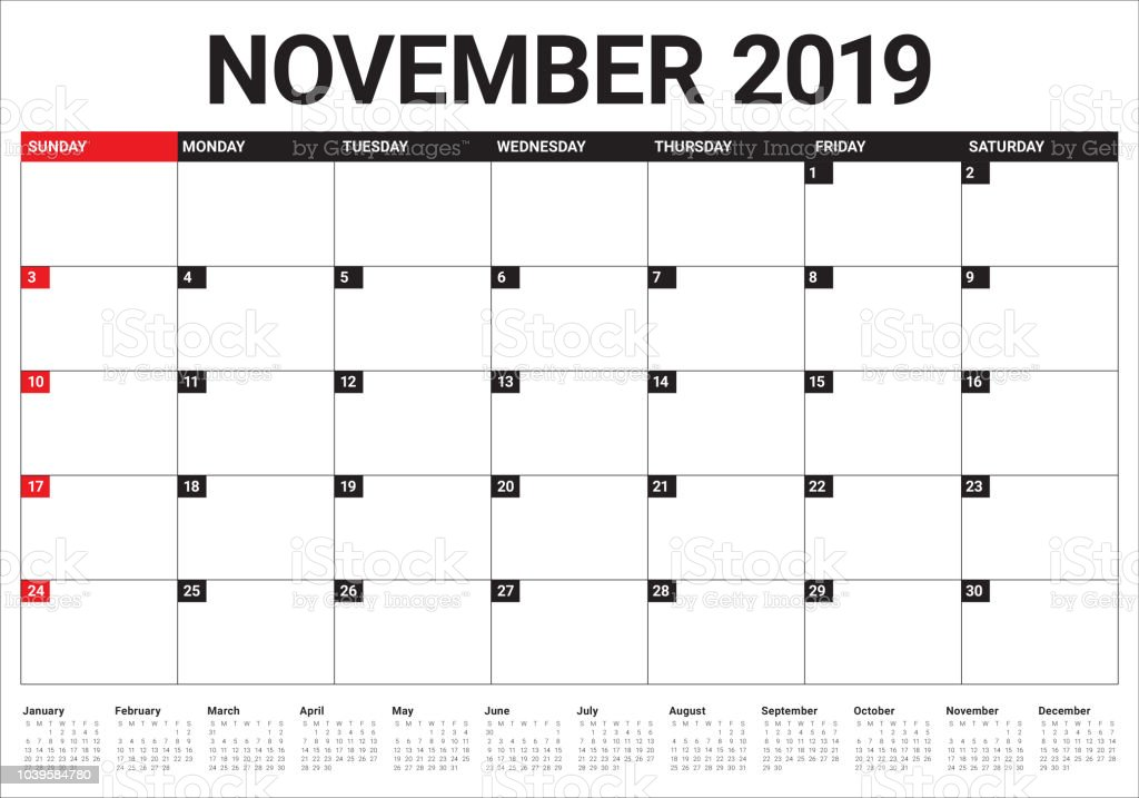 2019年 11 月デスク カレンダーのベクトル イラスト 2019年のベクター