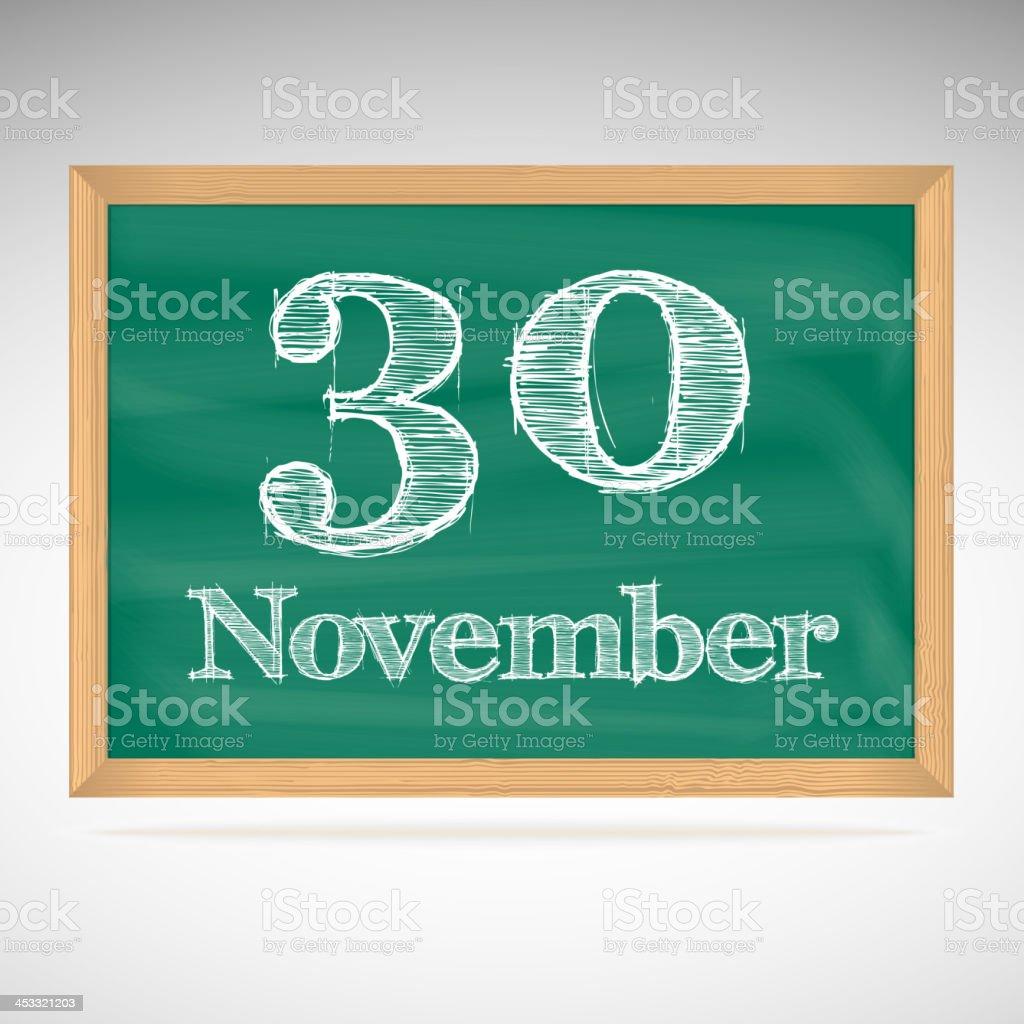 デイビッド 11 月 30 日には黒板...