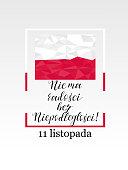11 november. Poland Independence Day greeting card.