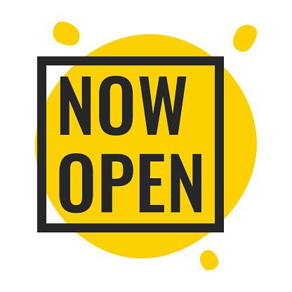 Vetores de Agora Abra Ilustração Vetorial No Fundo Branco e mais imagens de Aberto