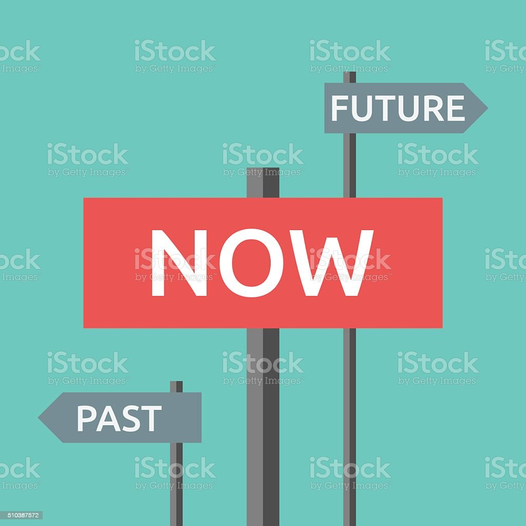 Now Past And Future Stock Vector Art & More Images of ...