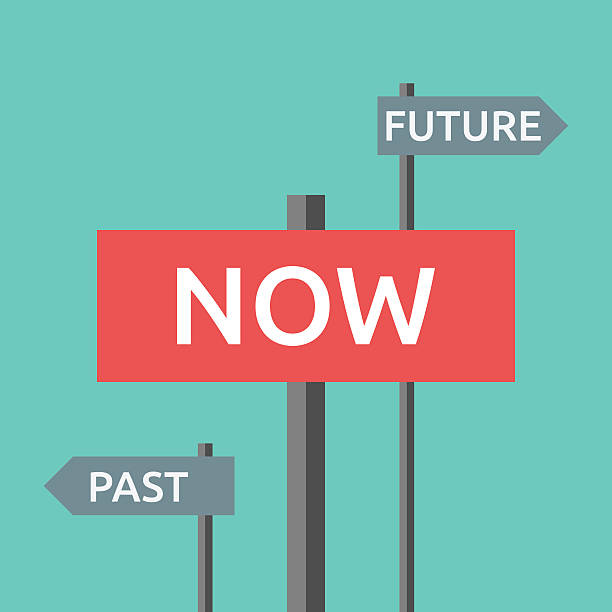 Nun, der Vergangenheit und Zukunft – Vektorgrafik