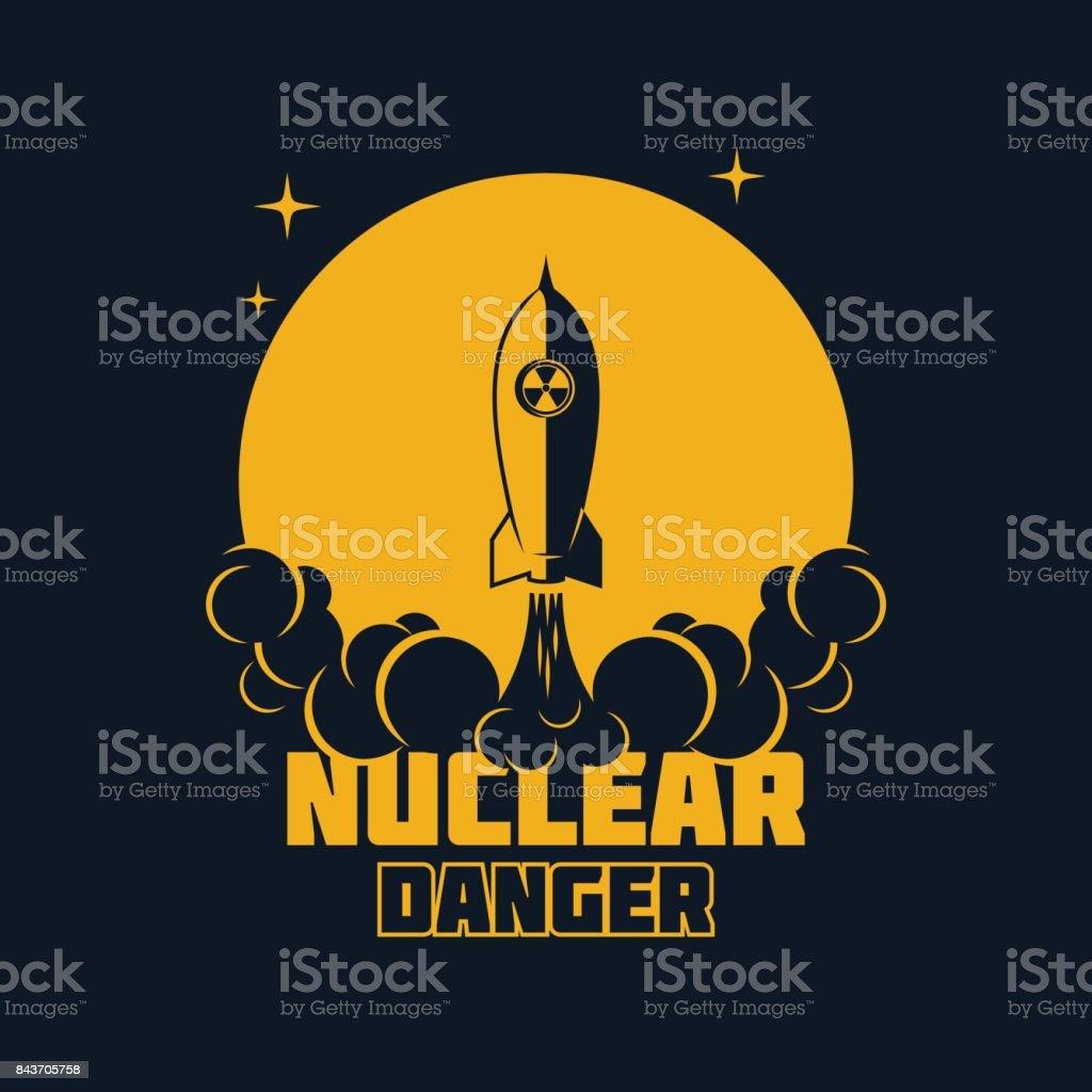 Nuclear danger - warning banner. Vector illustration vector art illustration