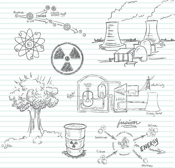 nuclear doodle - hiroshima stock illustrations