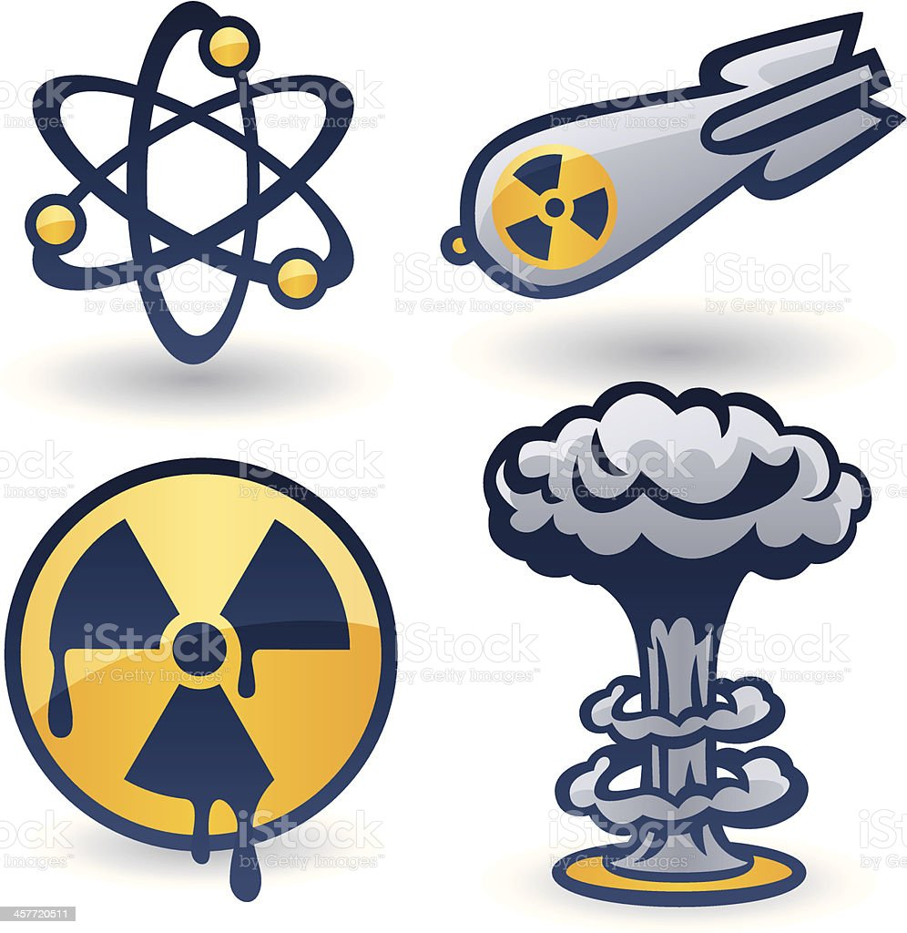 Nuclear Elements vector art illustration