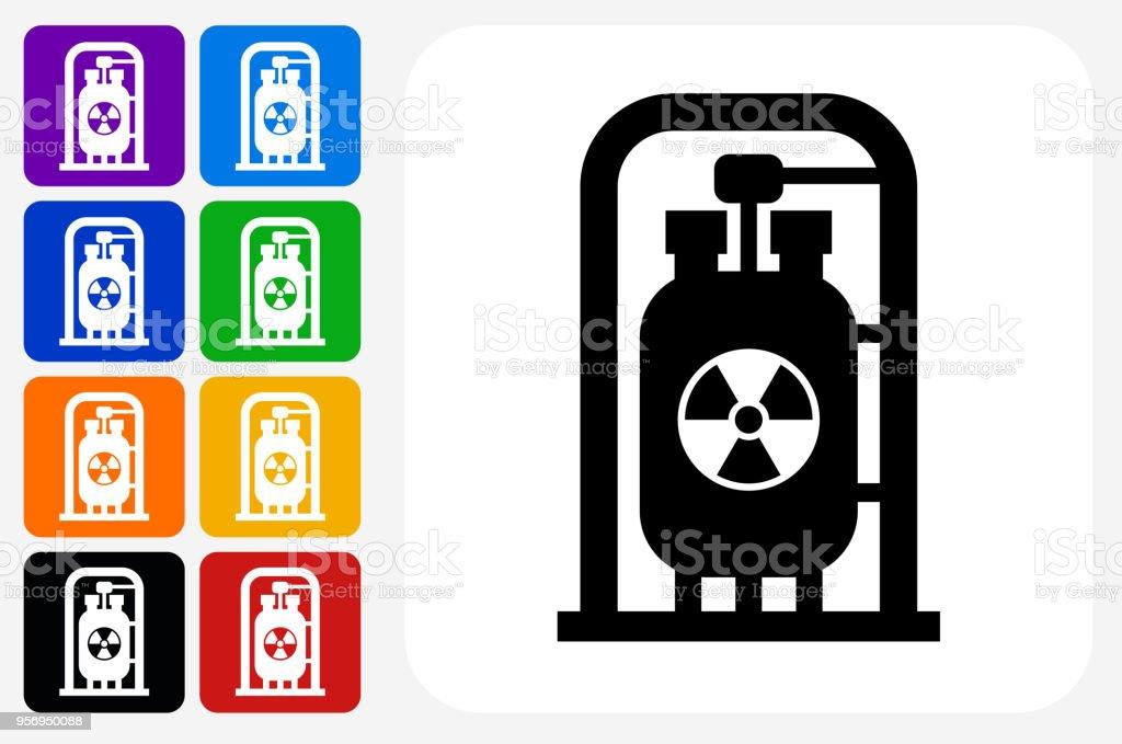 Nukleare Motor Symbol Square Buttonset Stock Vektor Art und mehr ...