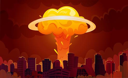 nuclear explosion city