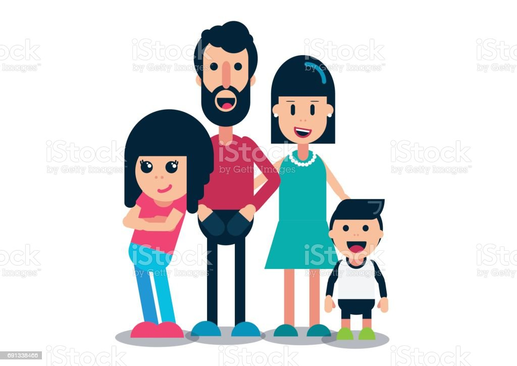 nuclear family white background stock vector art more images of