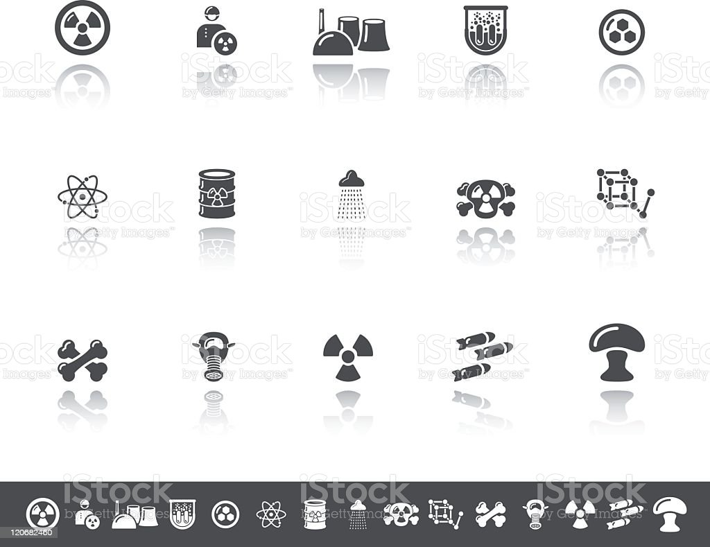 Nuclear Icons | Simple Grey royalty-free nuclear icons simple grey stock vector art & more images of air pollution