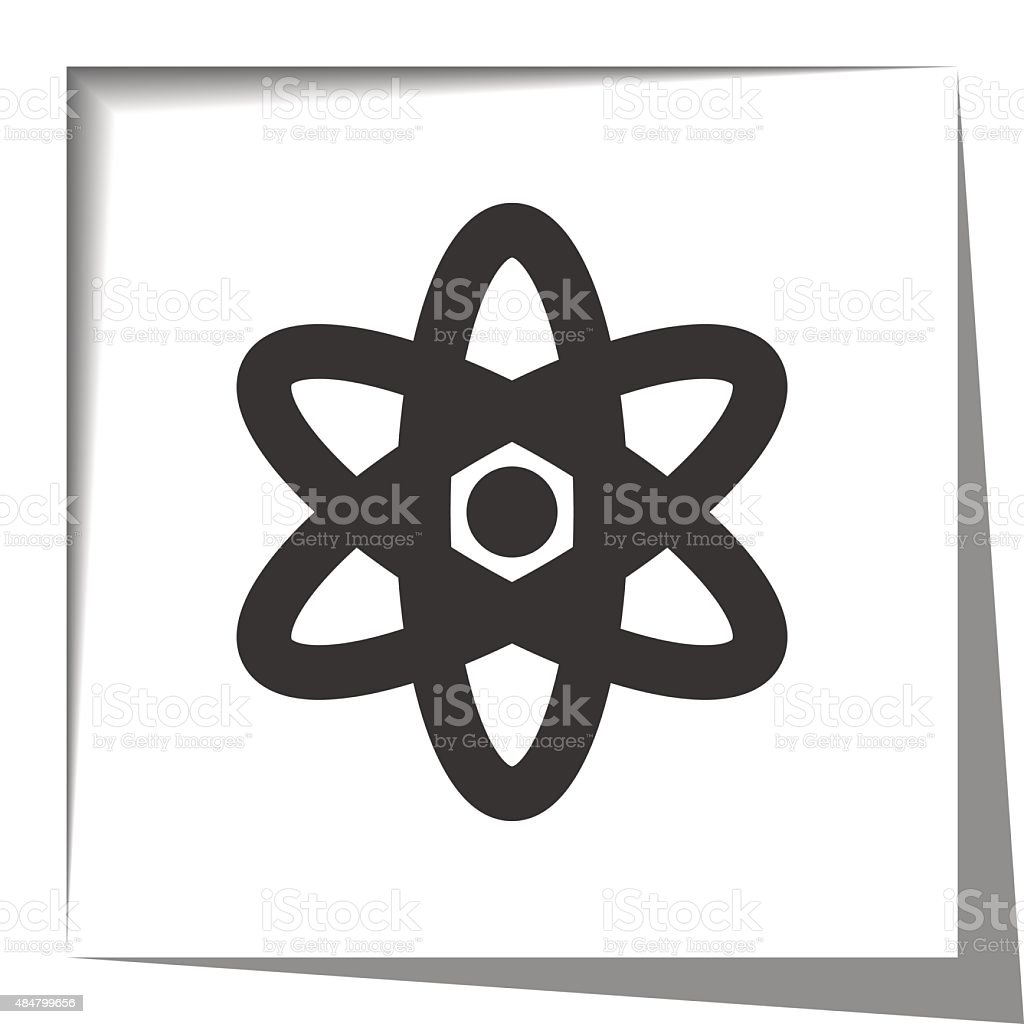 nuclear paper cut out vector art illustration