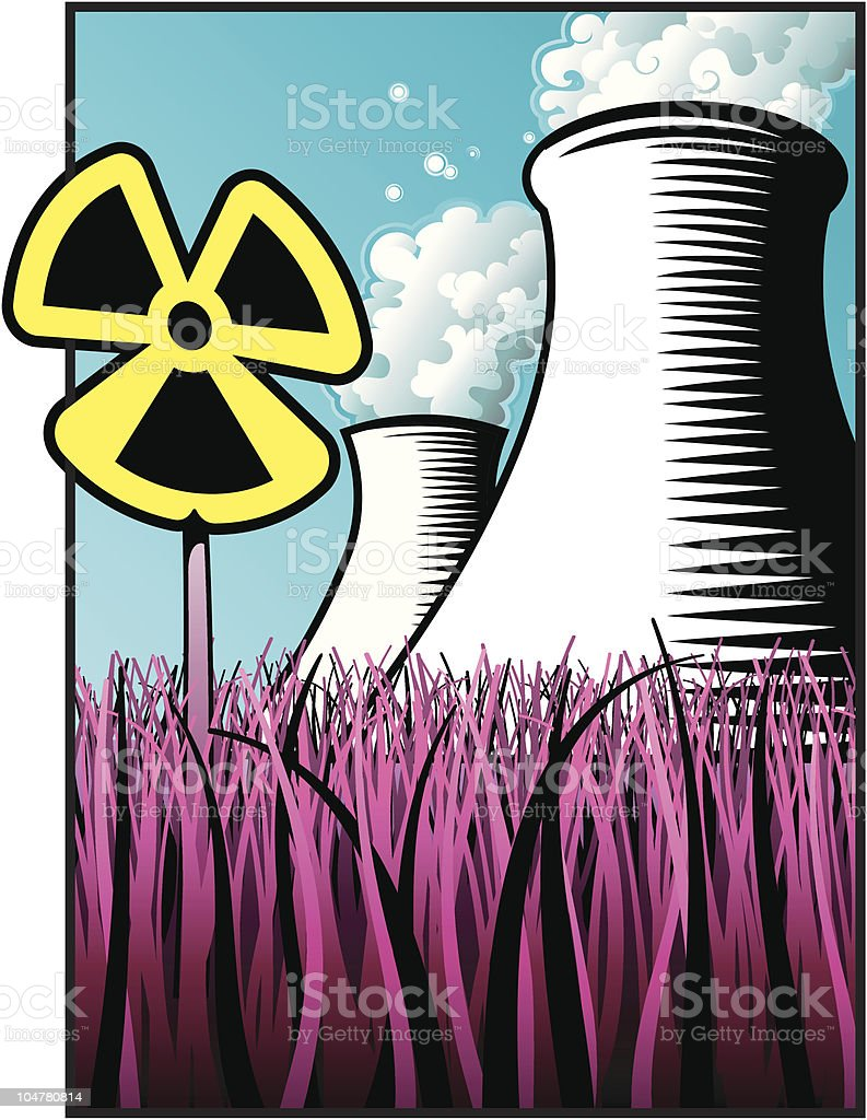 Nuclear Plant royalty-free stock vector art
