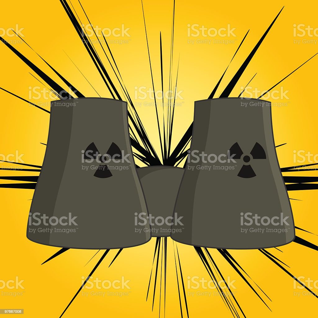 Nuclear Power Danger royalty-free nuclear power danger stock vector art & more images of atom