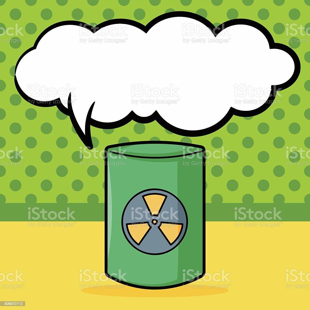 Ilustración De Energía Nuclear Garabato Expresión De Pensamiento Y