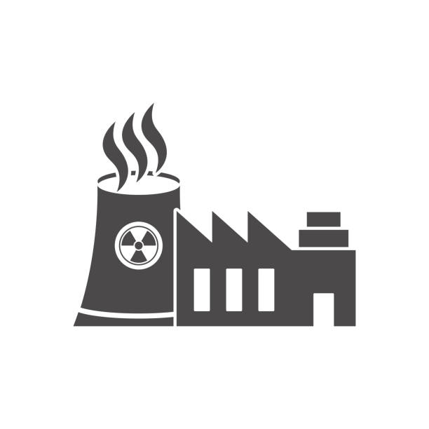 Nuclear power plant icon.Vector illustration. Nuclear power plant icon.Vector illustration. lead poisoning stock illustrations