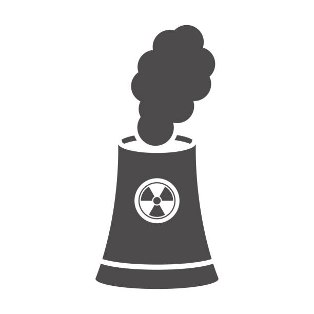 Nuclear power plant tower icon in flat style.Vector illustration. Nuclear power plant tower icon in flat style.Vector illustration. lead poisoning stock illustrations