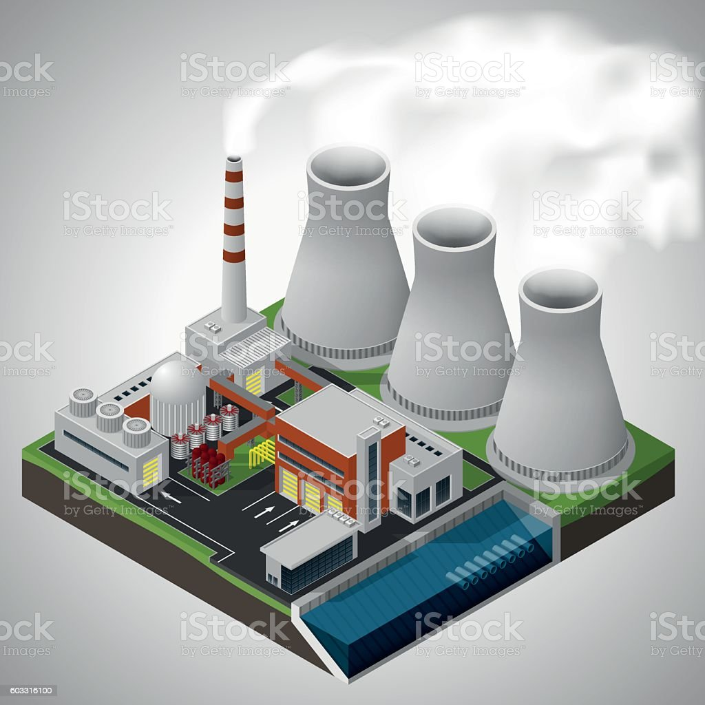 Nuclear Power Plant Stock Vector Art More Images Of 1965 Watts With Diagram Royalty Free Amp