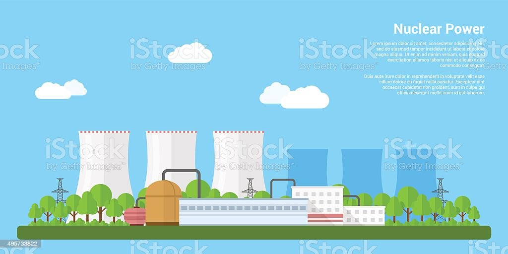 nuclear power vector art illustration
